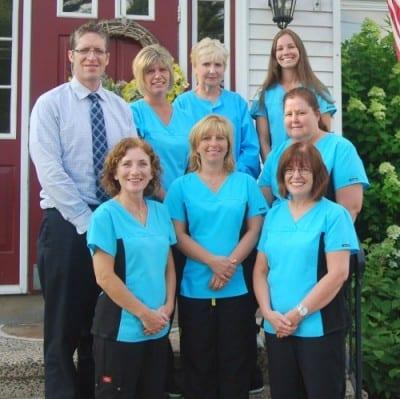 Back row, L-R--Dr. Cummiskey, Kerri, Ann and Kristy. Middle row--Michelle. Front row--Lynn, Patty and Paula.